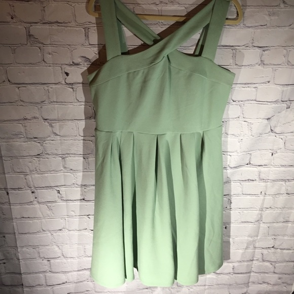torrid Dresses & Skirts - Torrid sage green crisscross front dress. Sz 1